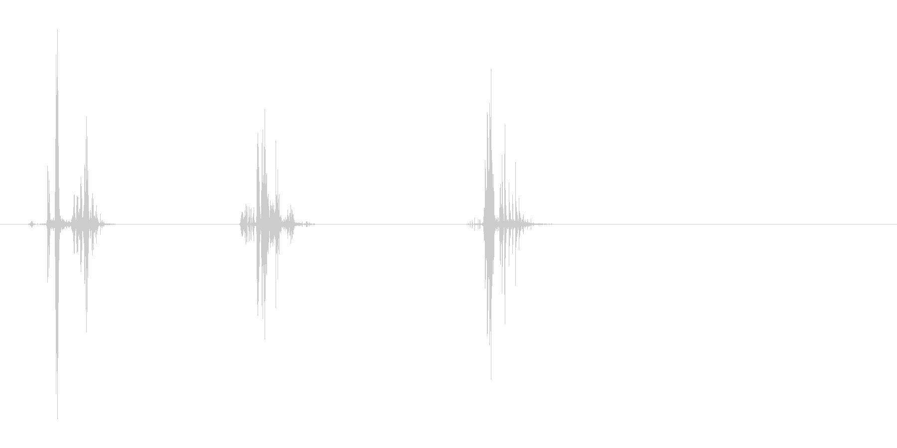 ゴクゴクッと飲み物を飲む音の未再生の波形