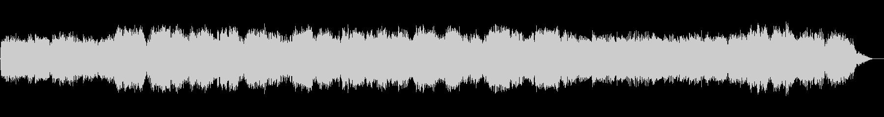 笛とシンセサイザーの静かな幻想的音楽の未再生の波形