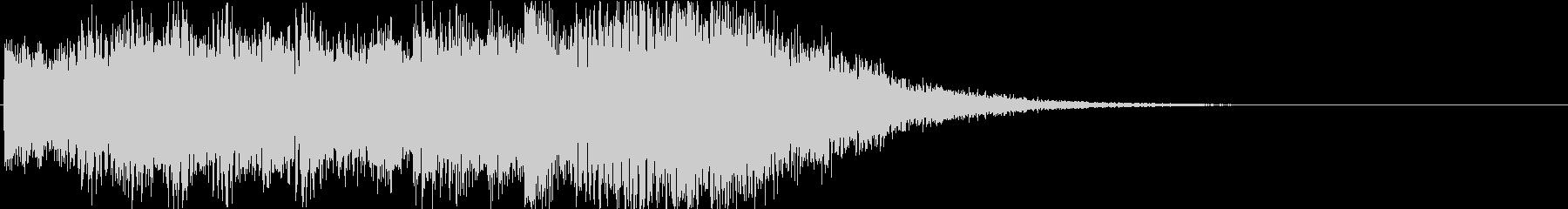 マリンバの軽快サウンドロゴの未再生の波形