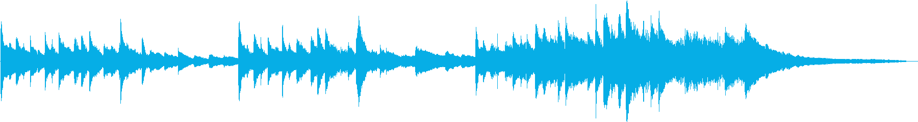 柔らかいロマンチックなソロピアノの再生済みの波形