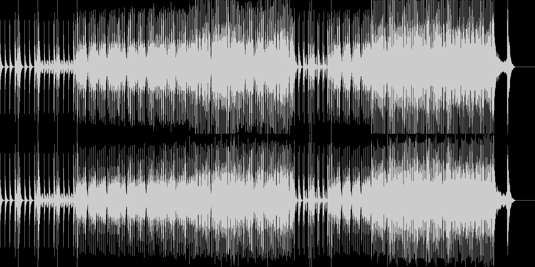 激しい太鼓と掛け声のBGMですの未再生の波形