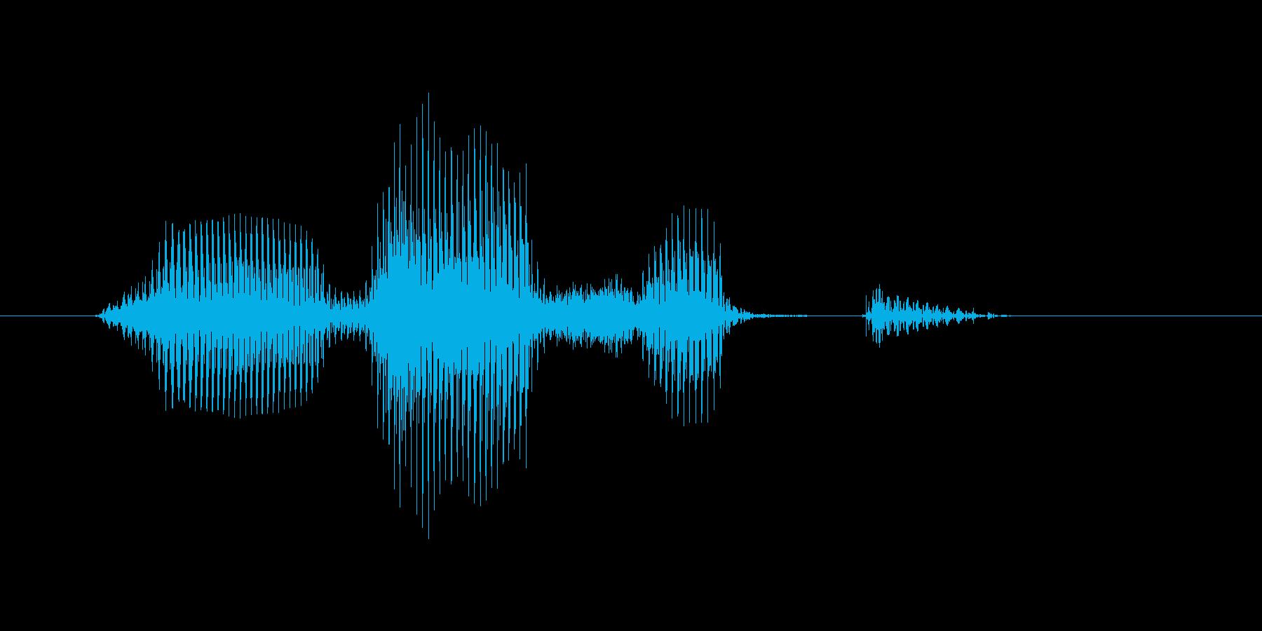 オーバーショットの再生済みの波形