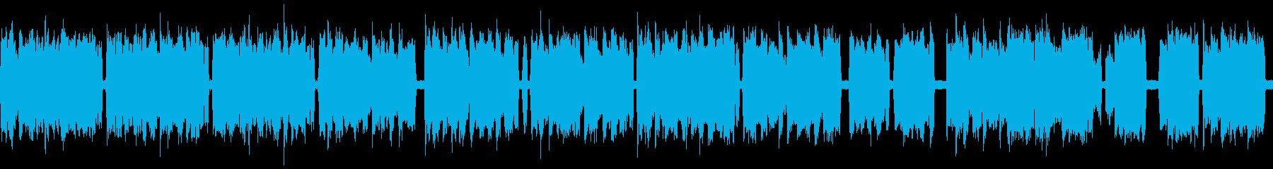 アコーディオンでほのぼのしたBGMの再生済みの波形
