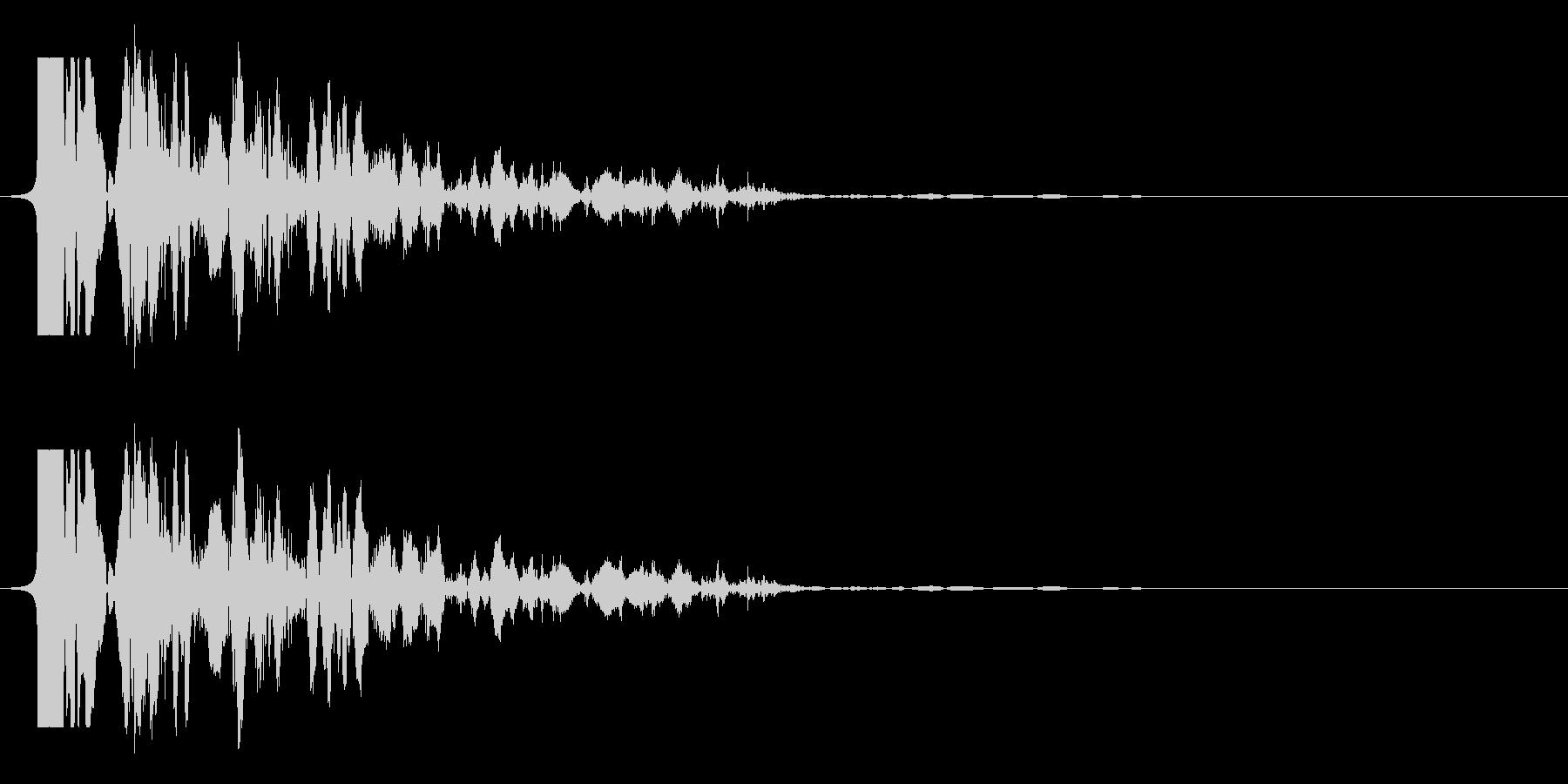 必殺風の殴り音の未再生の波形