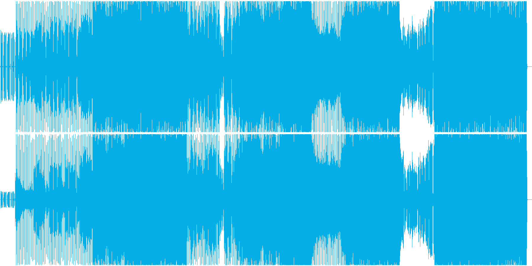 透明感のある歌声。4つ打ち疾風系ロックの再生済みの波形