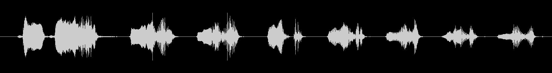 鳴き声 笑い声03の未再生の波形