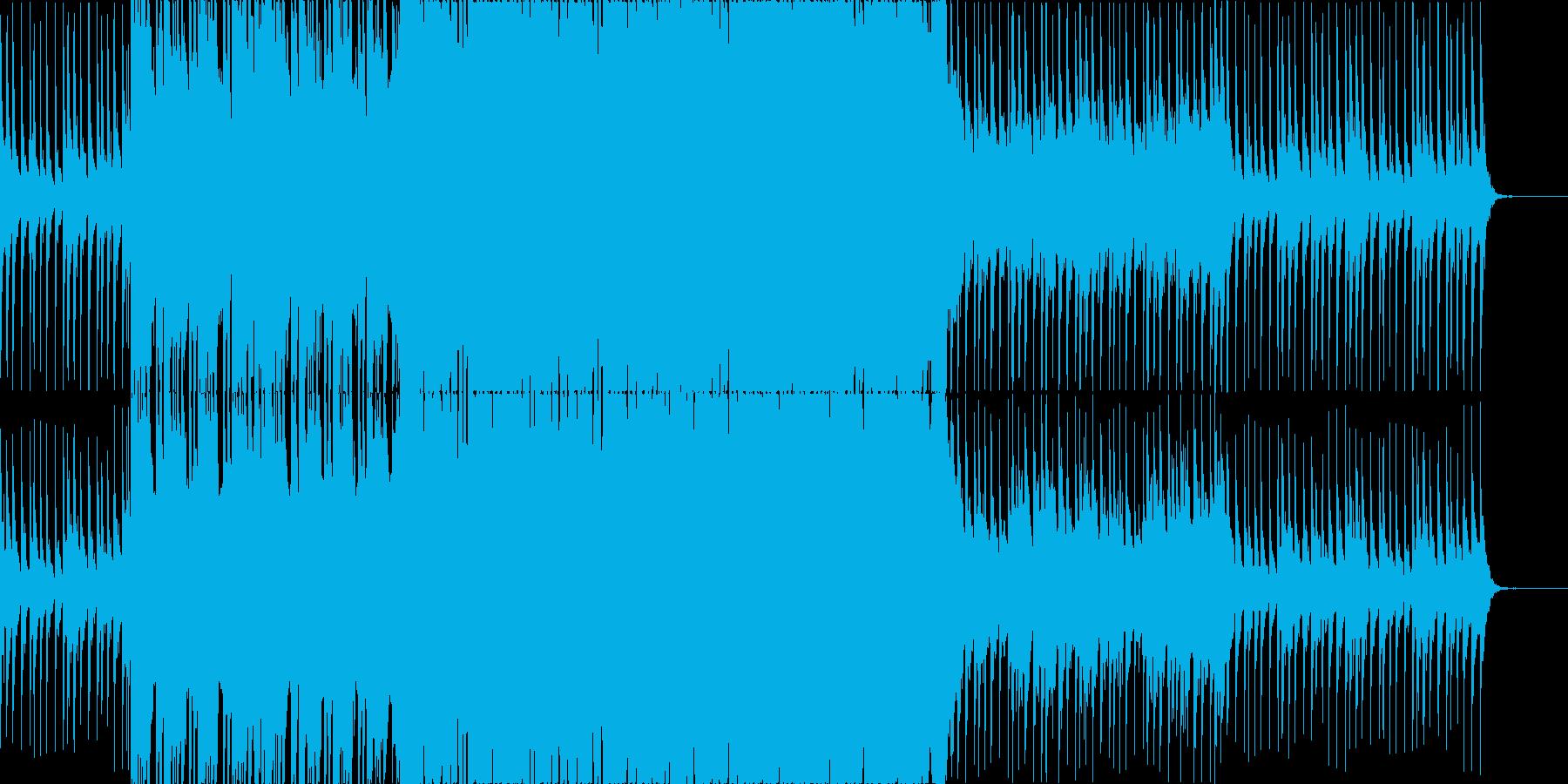 爽やか、軽快なトロピカルハウスの再生済みの波形
