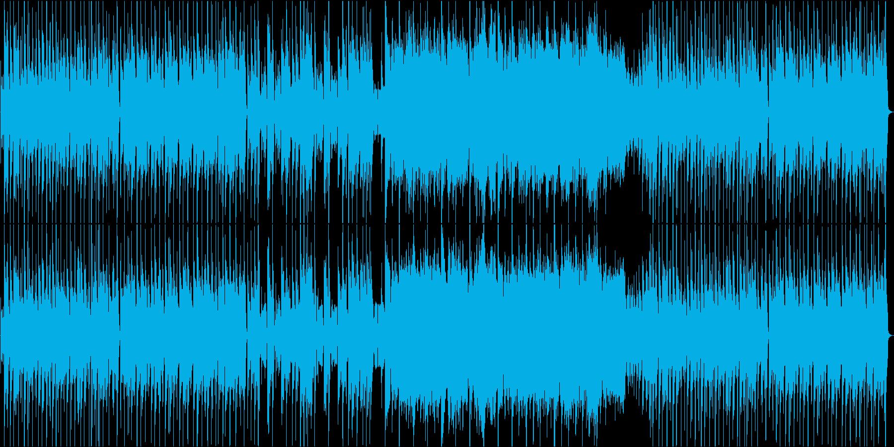 軽快な雰囲気で温かみのある楽曲の再生済みの波形