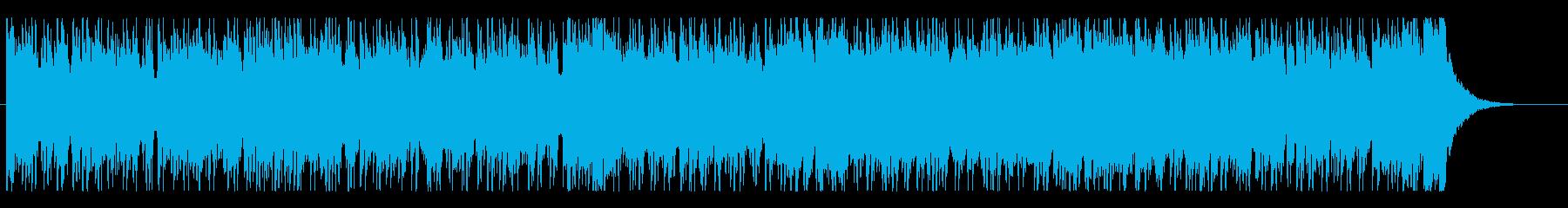 宇宙的・近未来的なサイバーパンクビートの再生済みの波形