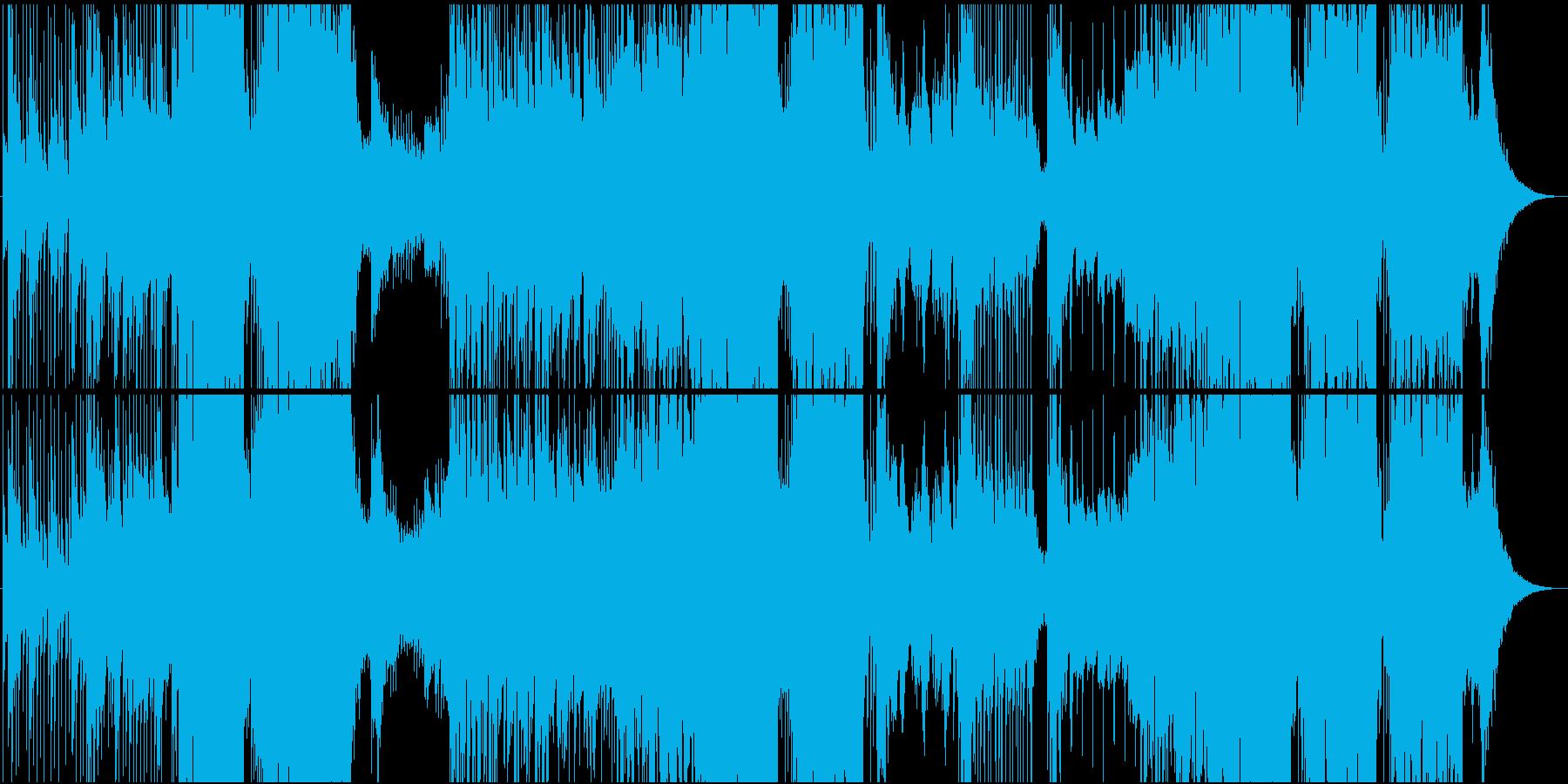 映像用静かなピアノのFutureBassの再生済みの波形