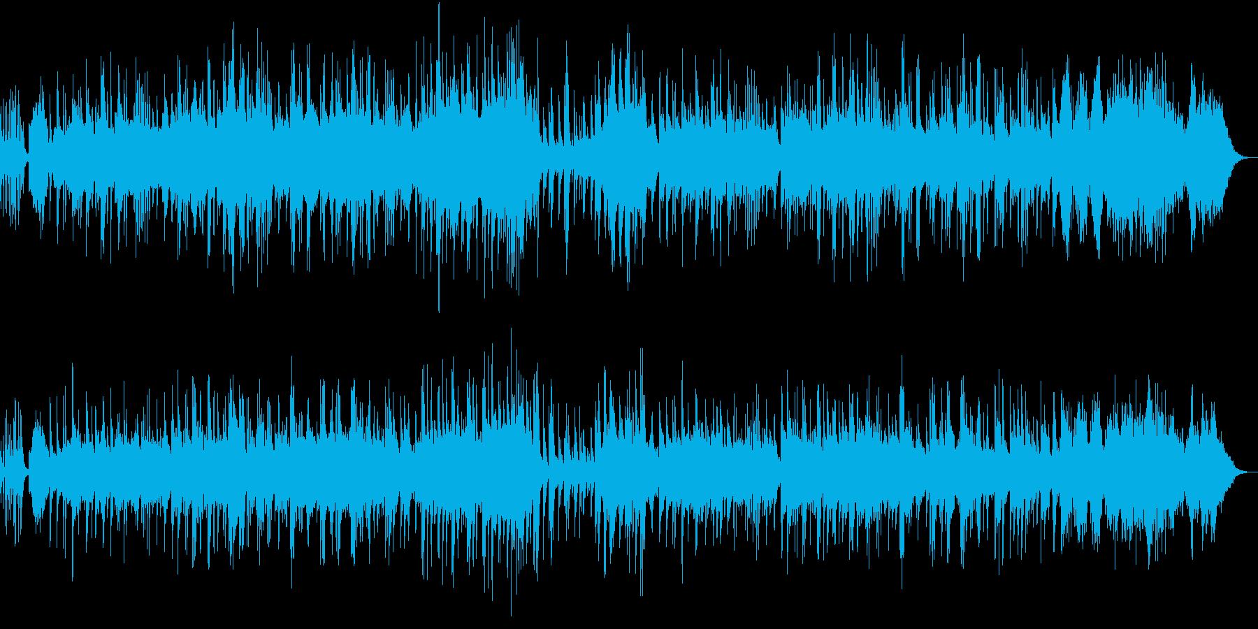 ピアノの優しい癒されるBGMの再生済みの波形