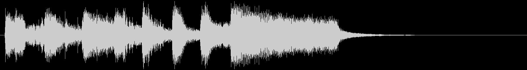 勝利した雰囲気のブラスジャズサウンドロゴの未再生の波形