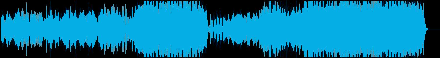哀愁あるオーケストラワルツの再生済みの波形