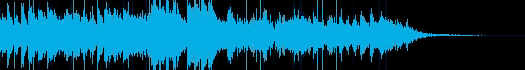 アップテンポなフュージョンジングルの再生済みの波形