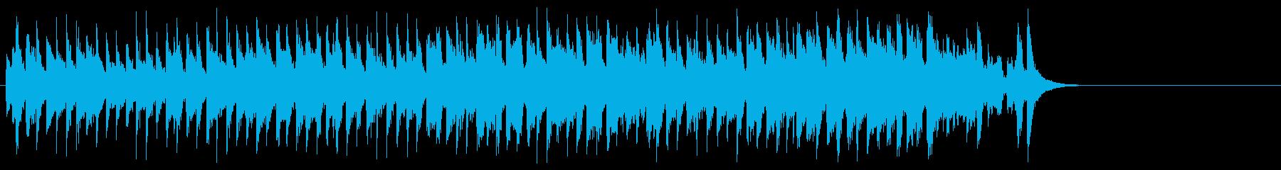 おどけた軽快なポップ(サビ~エンド)の再生済みの波形