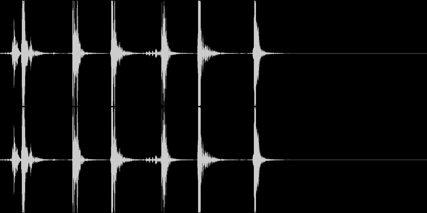 Typing キーボード 3連打音 PCの未再生の波形