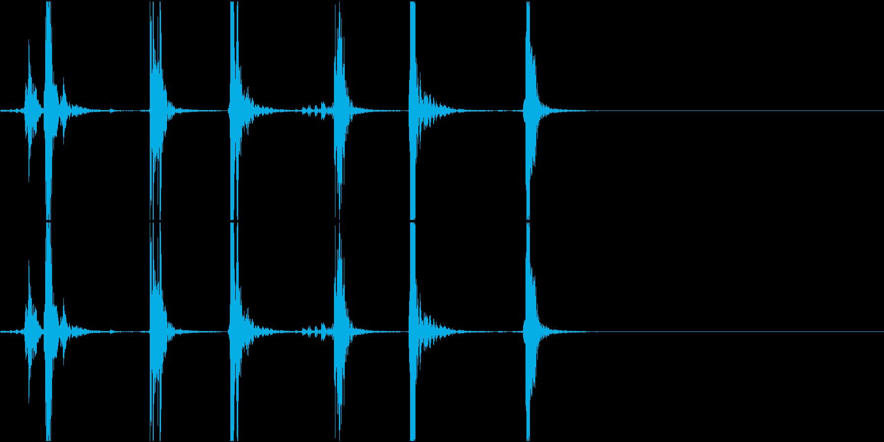 Typing キーボード 3連打音 PCの再生済みの波形