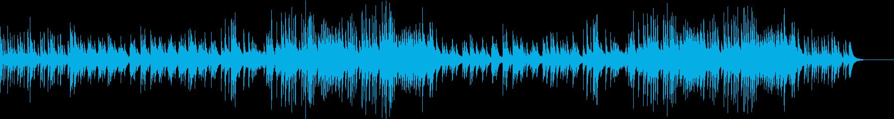 友達と語り合ってるイメージのピアノソロの再生済みの波形