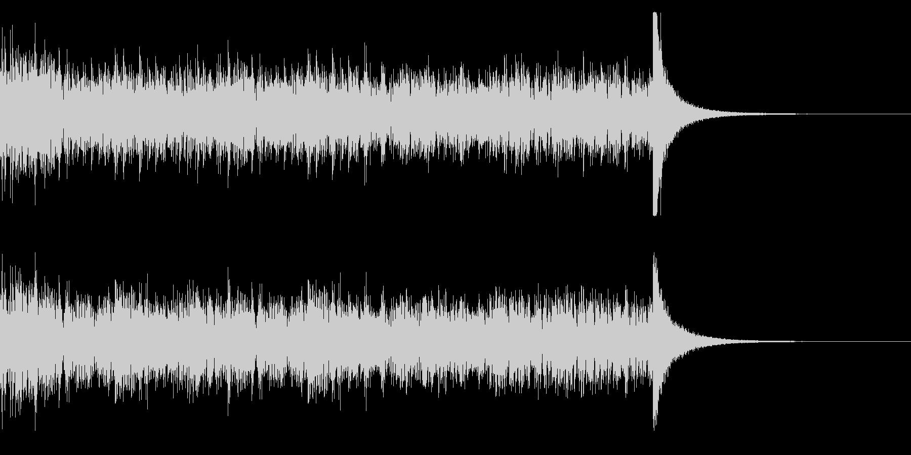 ドラムロール(29秒)の未再生の波形