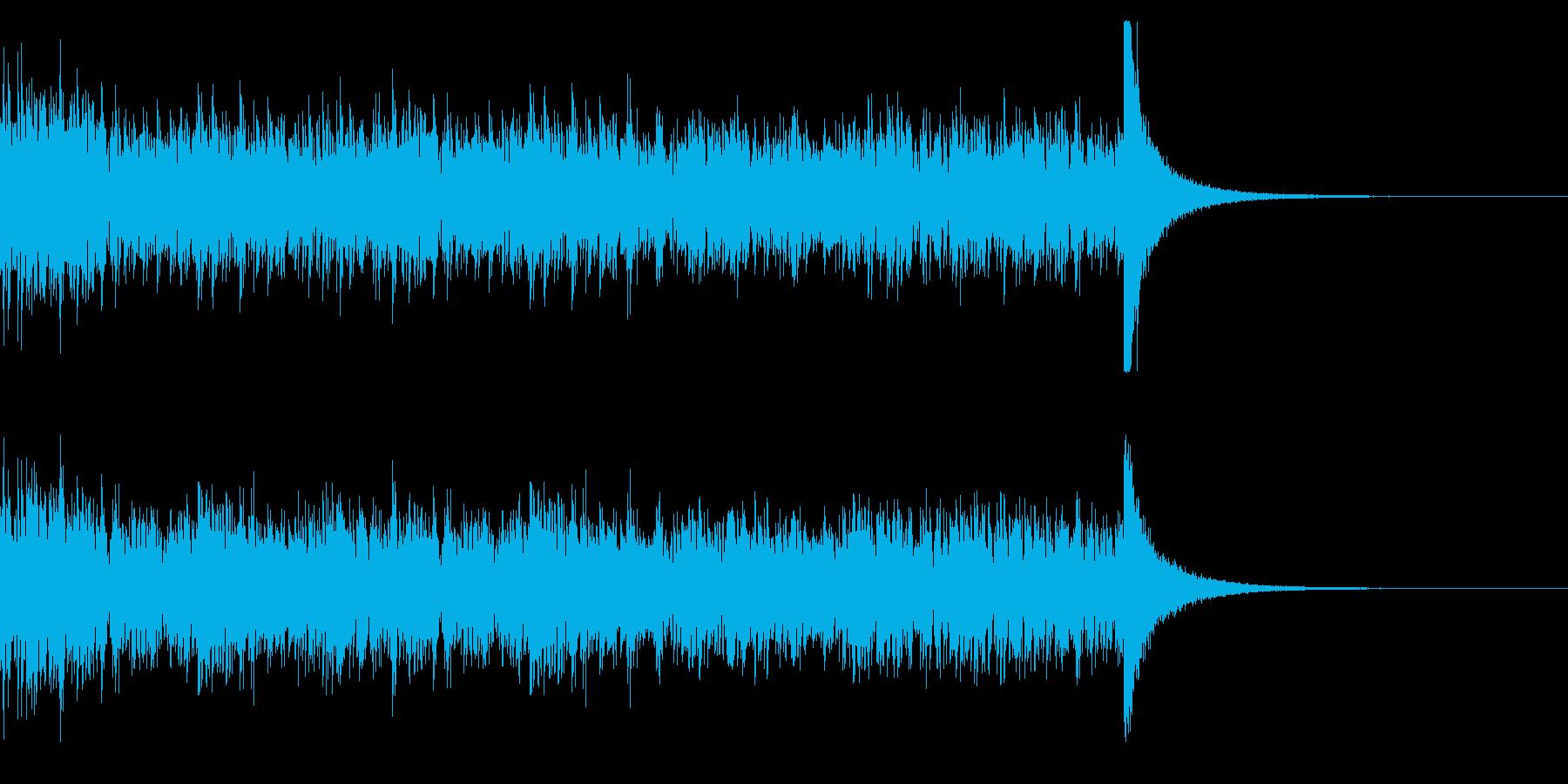 ドラムロール(29秒)の再生済みの波形