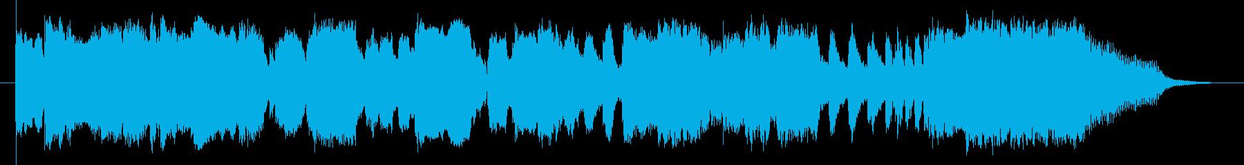 西部劇 トランペットとアコギの再生済みの波形