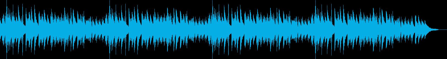 秋の夜のスローテンポジャズピアノBGMの再生済みの波形