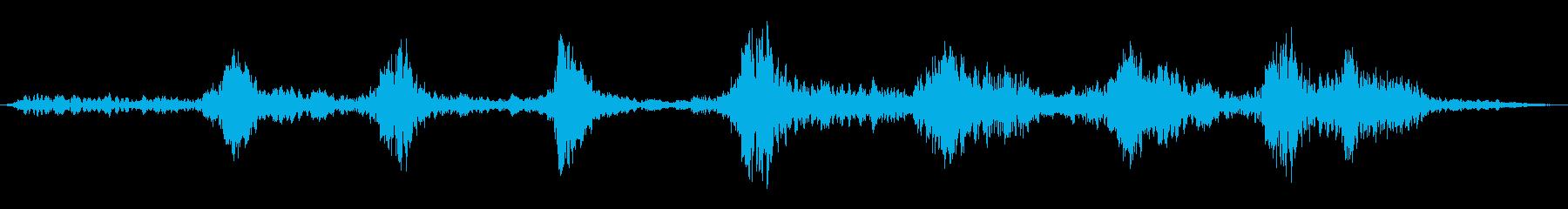 ゴロゴロ回転するシューの再生済みの波形