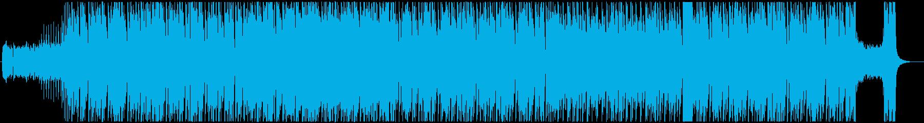 派手で疾走感のあるギターロックの再生済みの波形