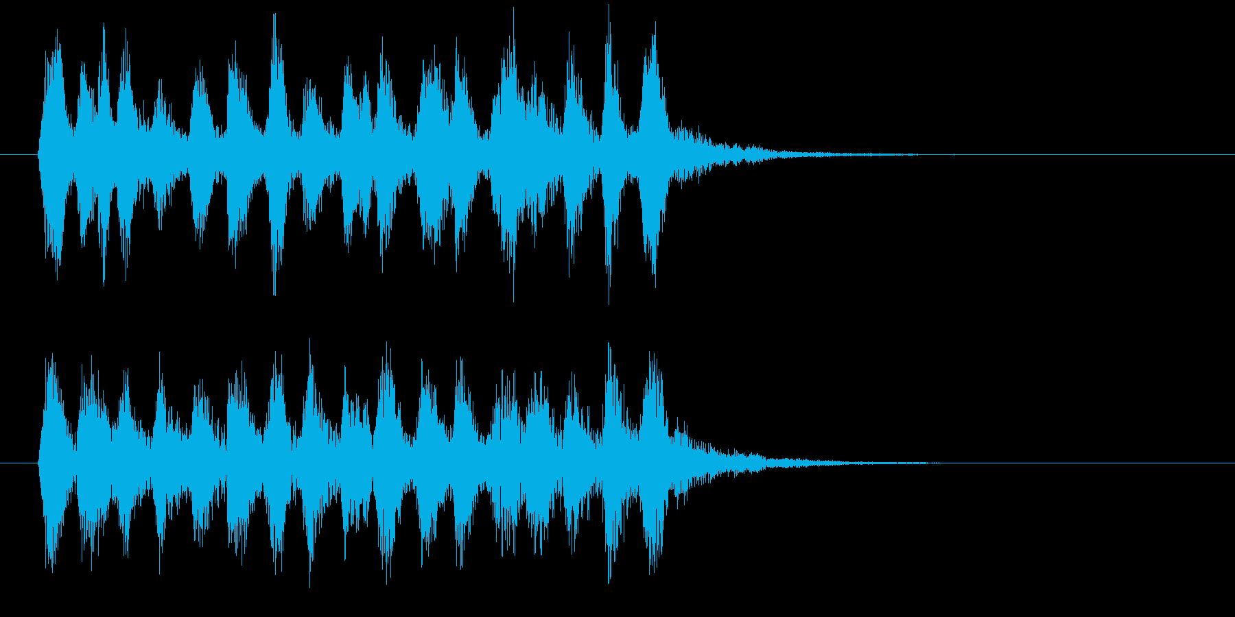 不気味ながらもコミカルなジングルの再生済みの波形