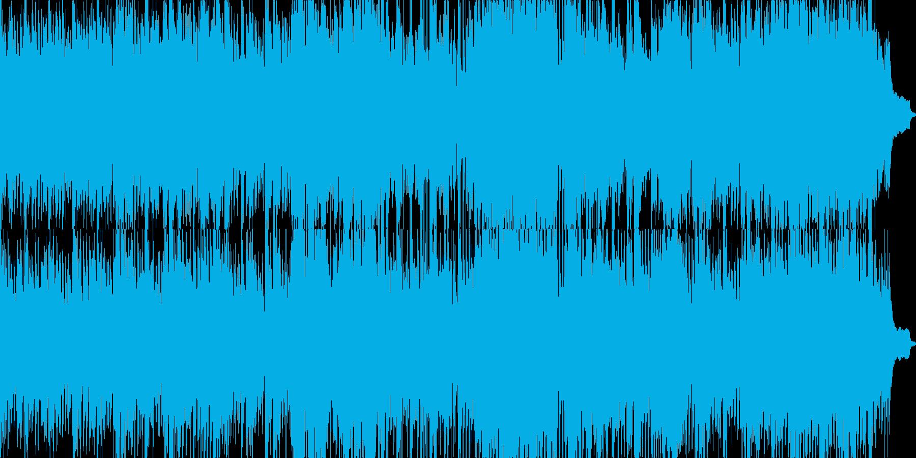 自然の映像にも映えるヒーリングBGMの再生済みの波形