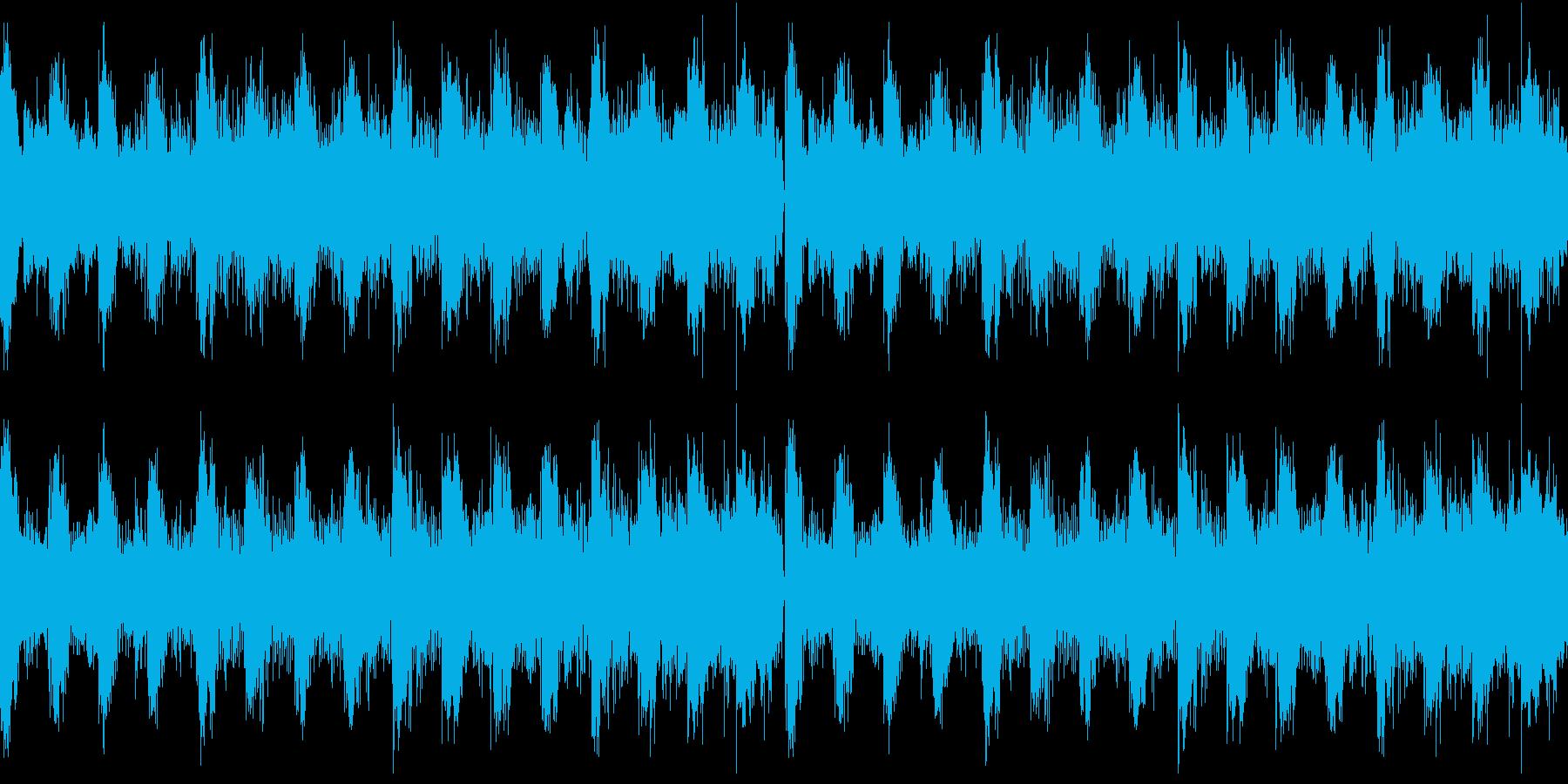 アルペジオが心地いいテクノ風BGMの再生済みの波形