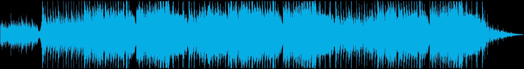 厳かな雰囲気のある和風ピアノBGMの再生済みの波形