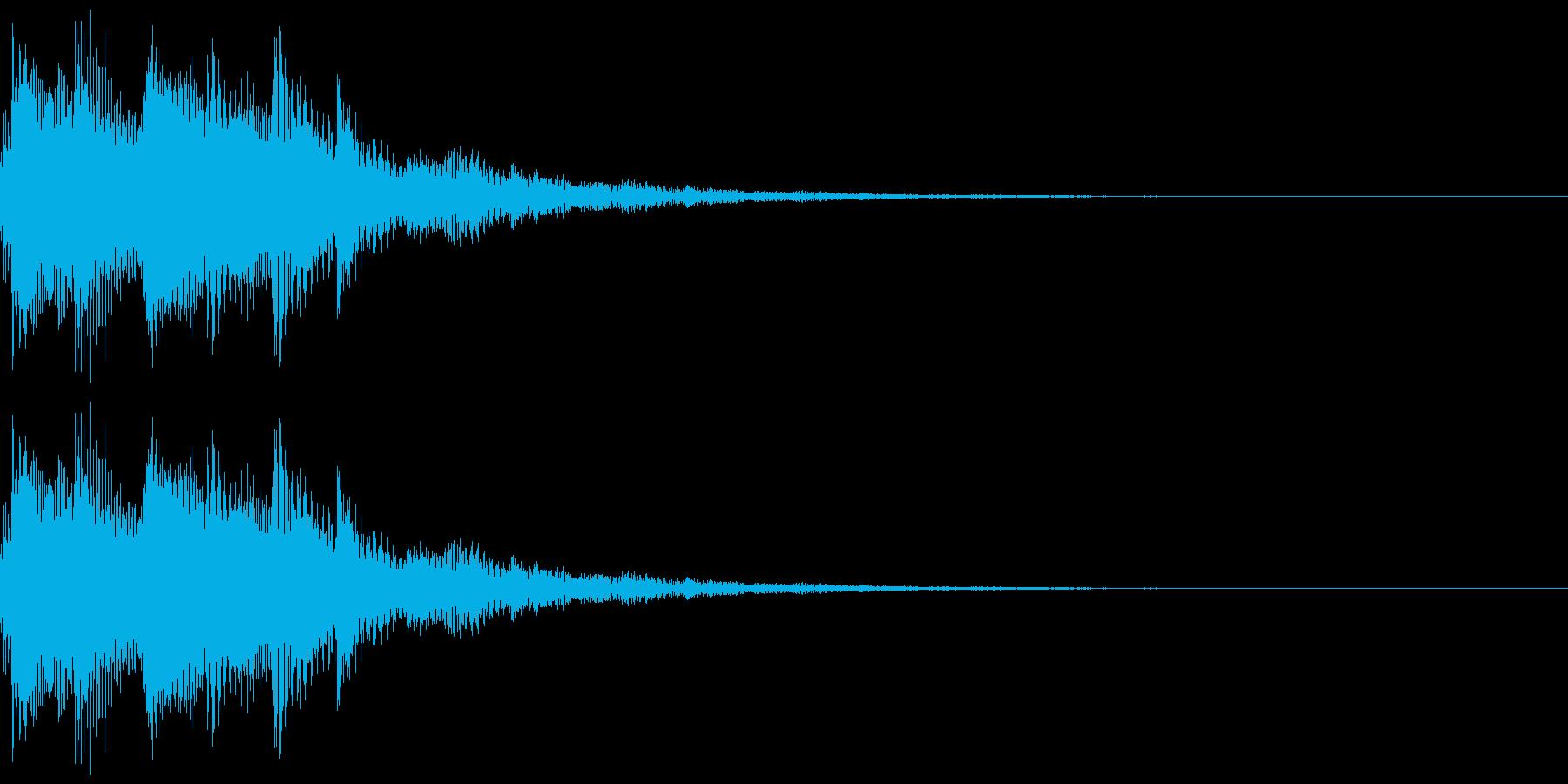 明るい響きのアラーム音の再生済みの波形