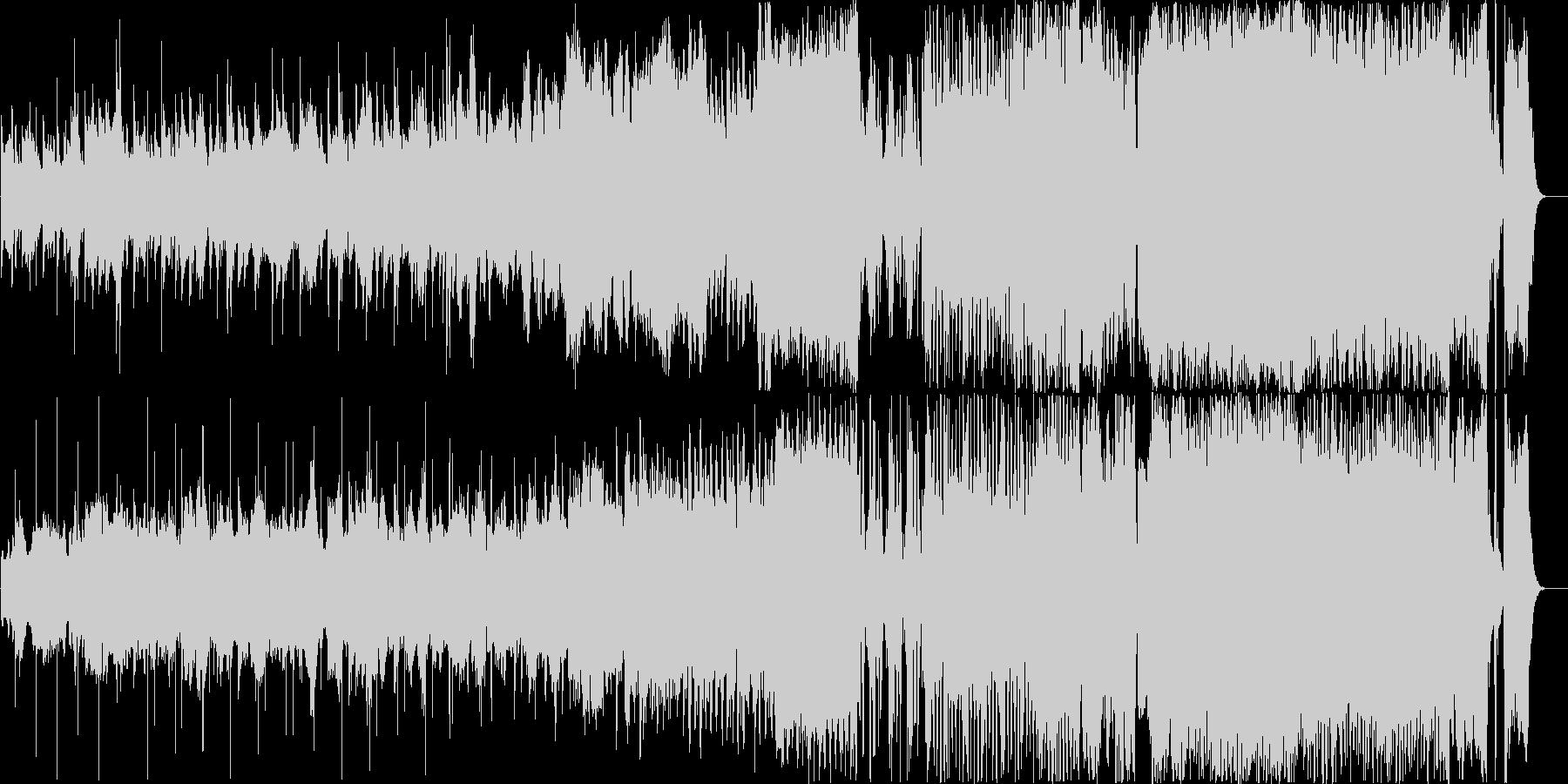 徐々に盛り上がっていく壮大なオーケストラの未再生の波形