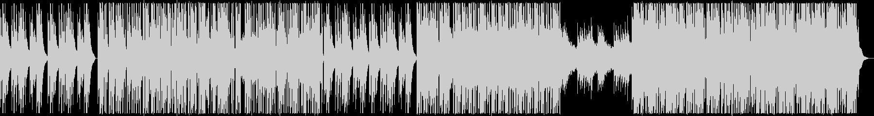 グリッチビートとジェントルなピアノの未再生の波形