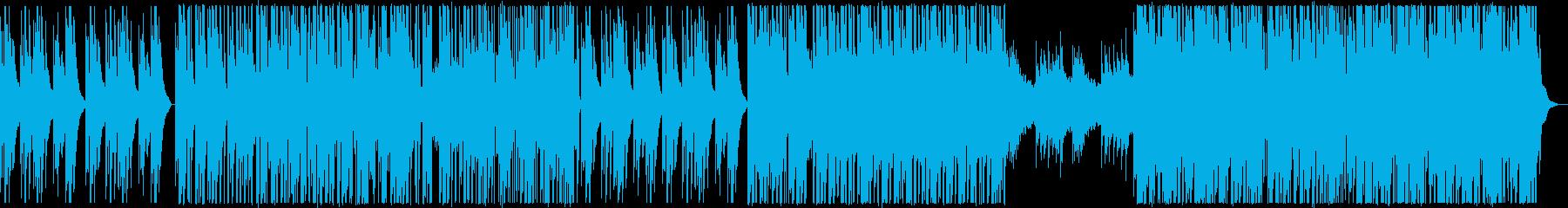 グリッチビートとジェントルなピアノの再生済みの波形