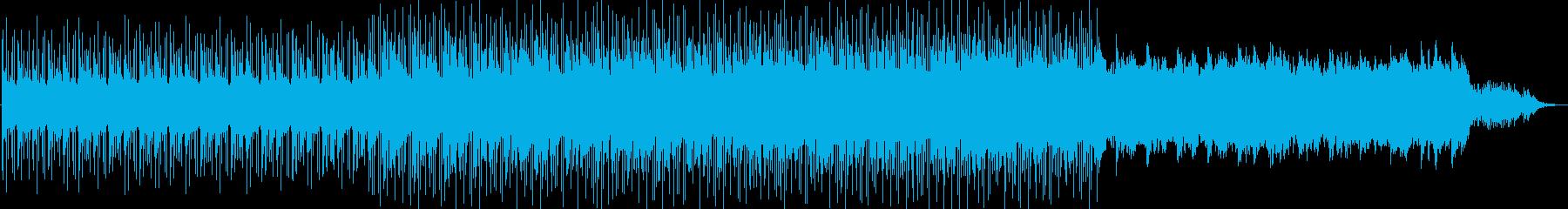 ピアノとシンセがドラマチックで壮大な曲の再生済みの波形