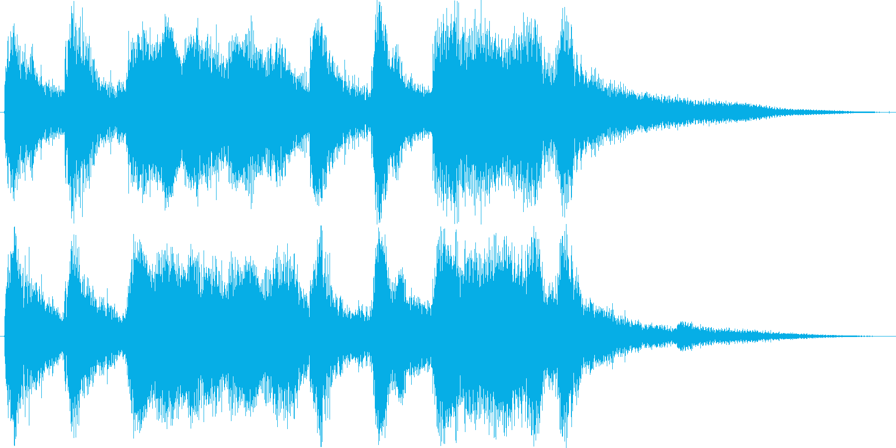 クラシックなイベント達成音ジングル2の再生済みの波形