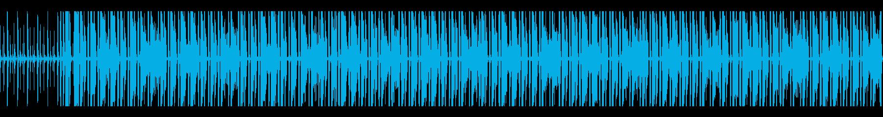 跳ねるリズムとメロディのオルガンポップスの再生済みの波形