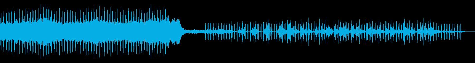 近未来的でクールなアンビエントな楽曲の再生済みの波形