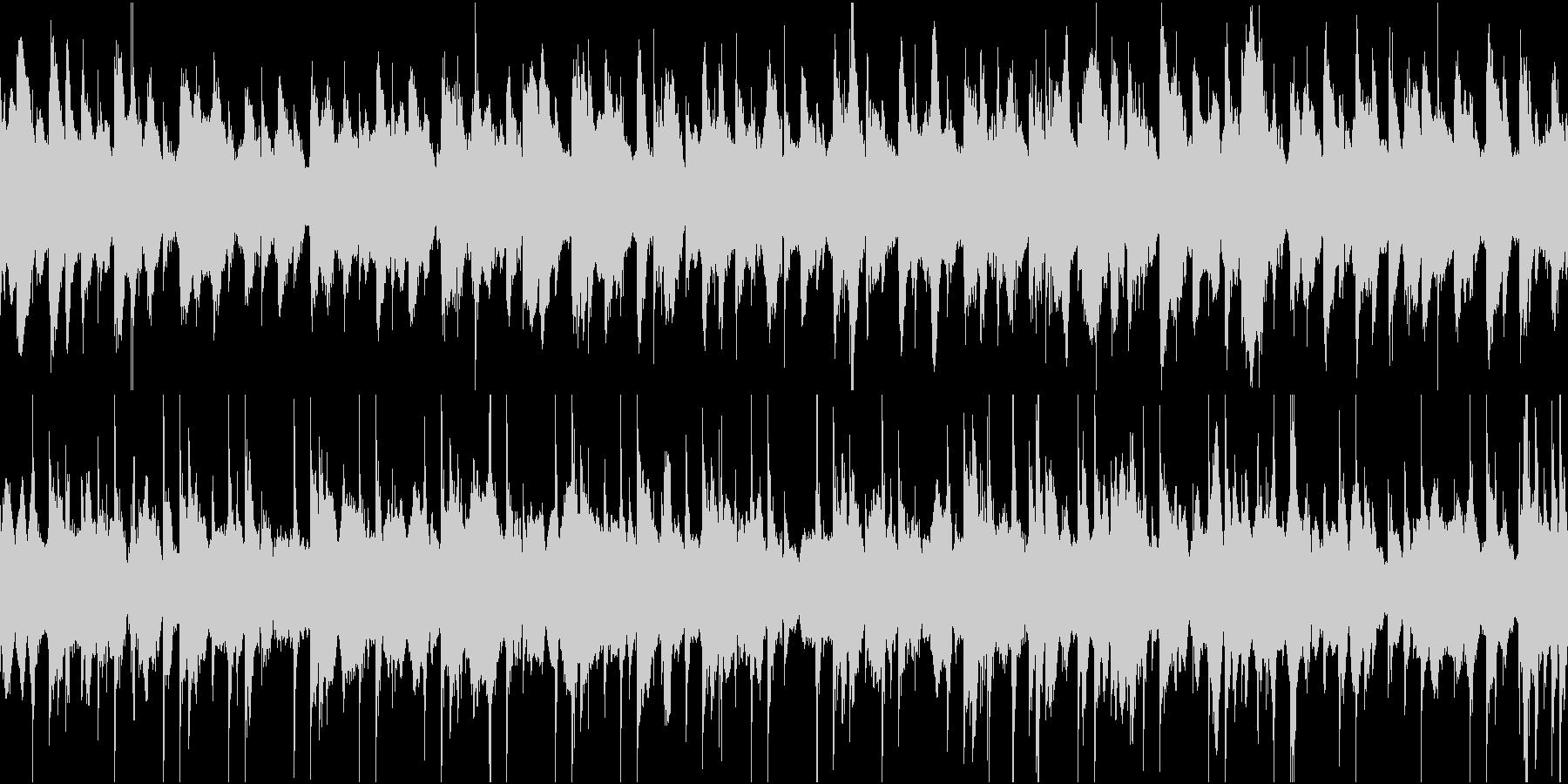 怪しいエスニック調のBGM(ループ)の未再生の波形