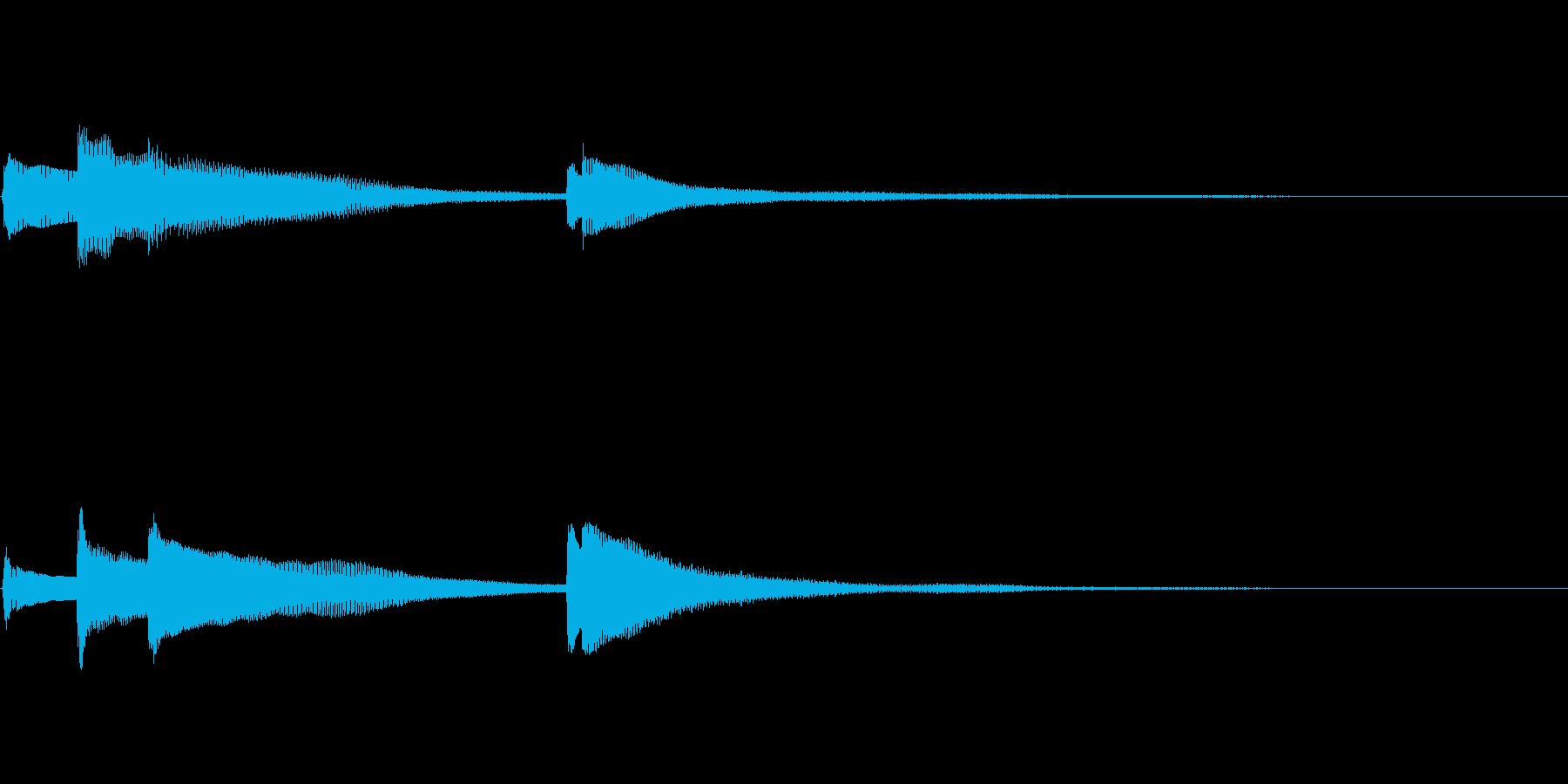 【生演奏】優しいピアノジングルの再生済みの波形
