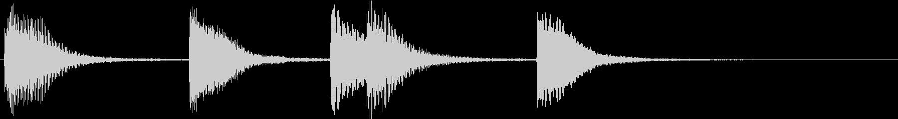 ピアノジングル 幼児向けアニメ系E-01の未再生の波形
