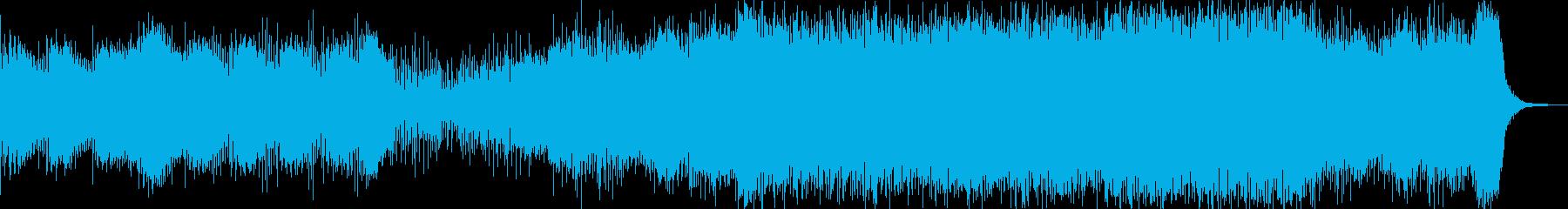 ミステリアスで壮大なBGMの再生済みの波形