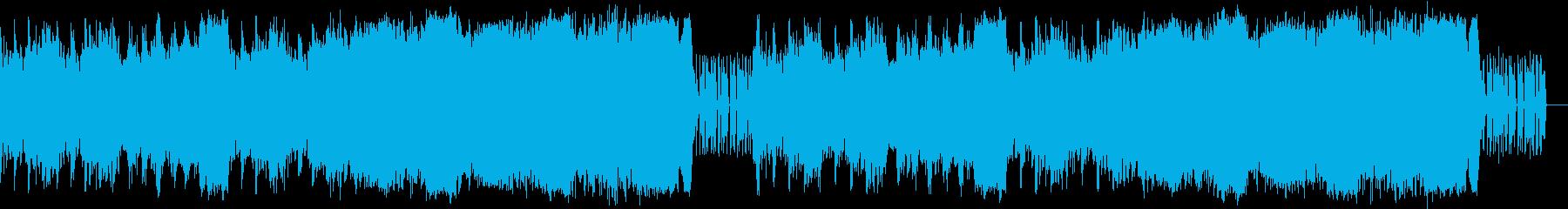 城をイメージしたオーケストラの再生済みの波形