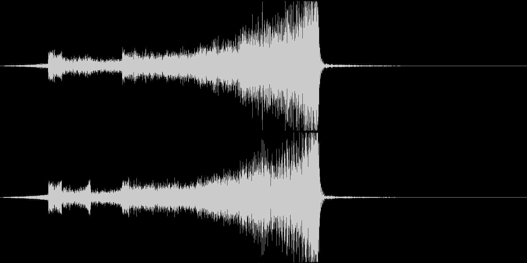 ホラー系恐ろしいものの急接近効果音の未再生の波形