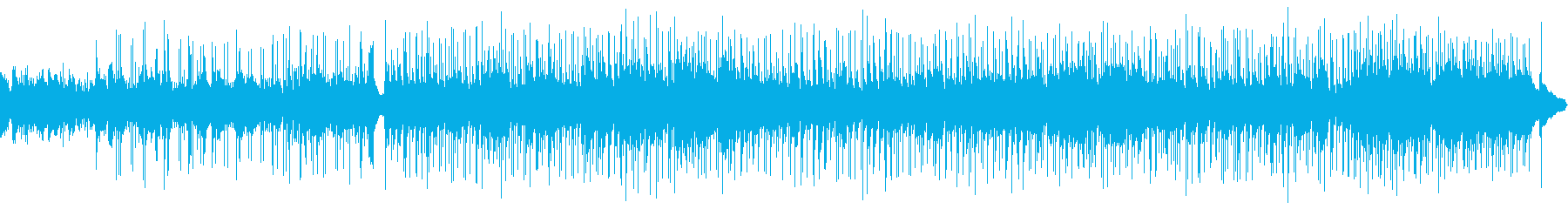 A calm and calm melody's reproduced waveform