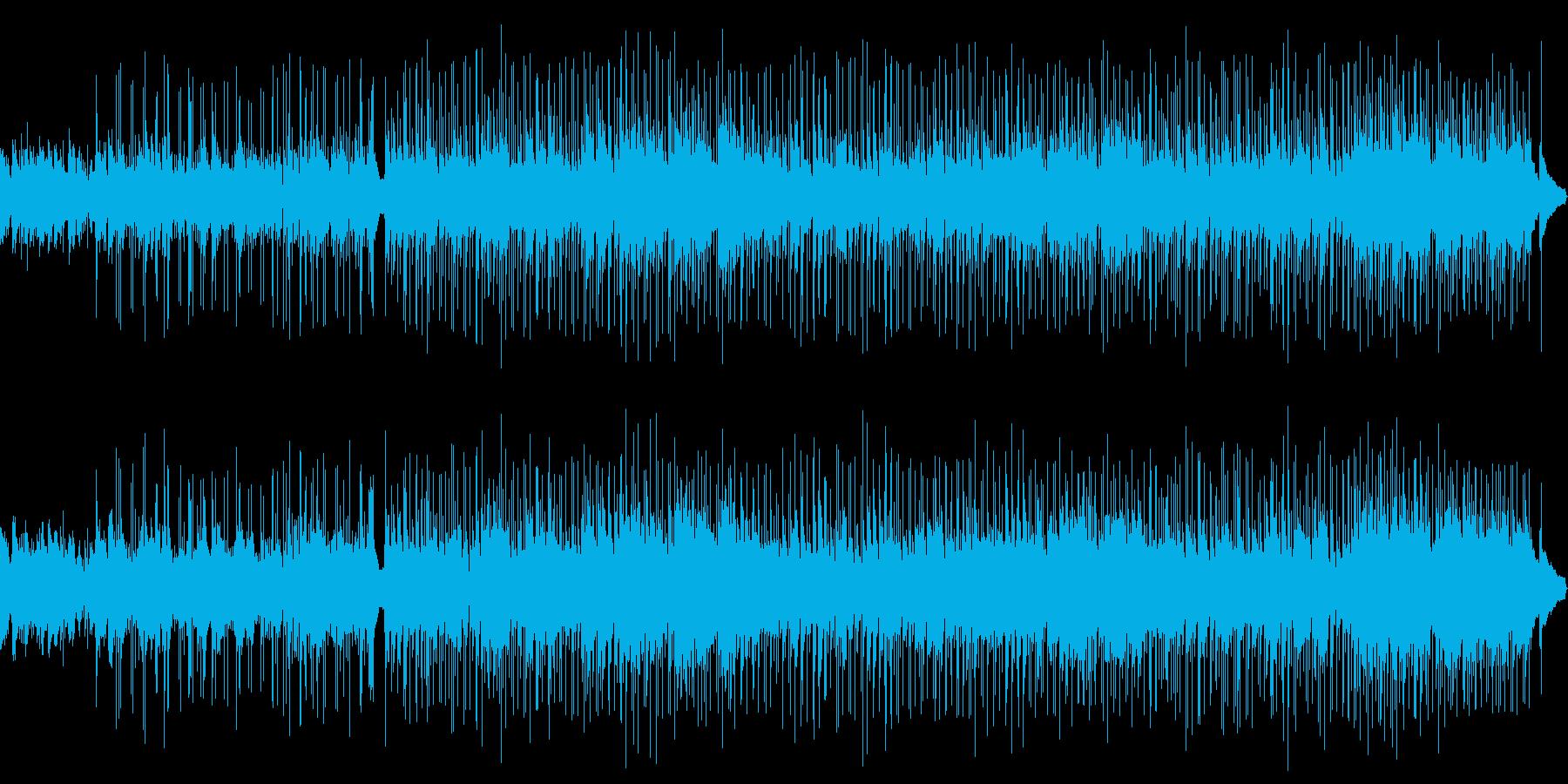 和やかで落ち着くメロディーの再生済みの波形