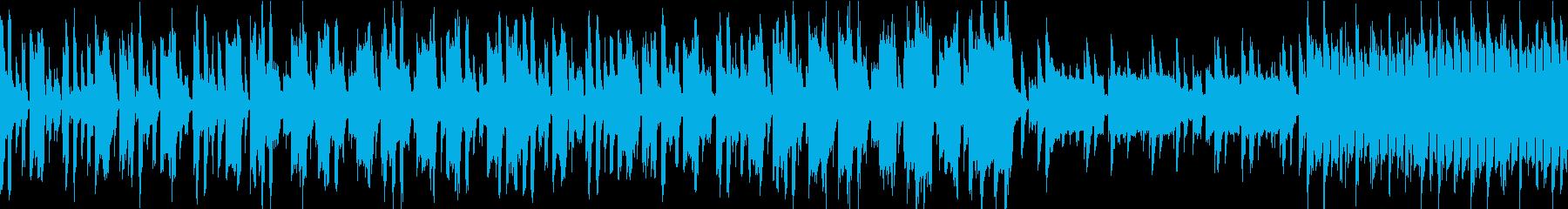 シンセ音のポップな日常風景曲。ループ仕様の再生済みの波形