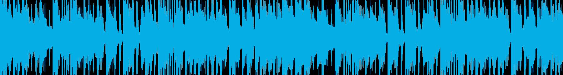 メタルコア風のヘヴィーLOOP BGMの再生済みの波形
